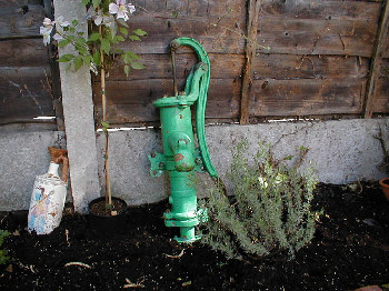 Green garden waterpump
